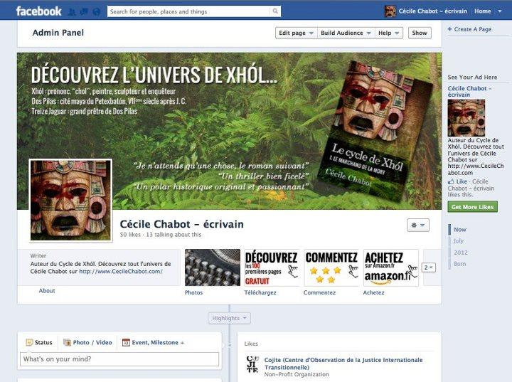 Page d'accueil Facebook du Cycle de Xhol