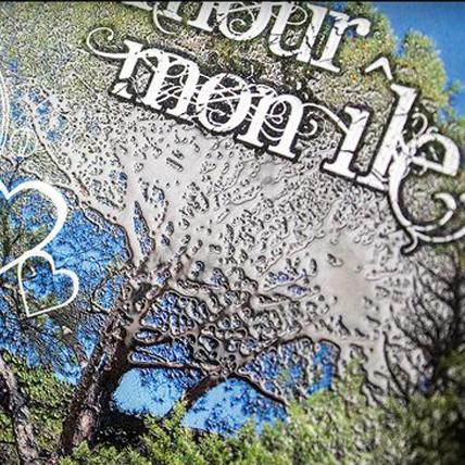 Livre, recueil de poésies, vernis 3D sur couverture